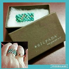 """SILPADA SS ‼️LAST CHANCE, CLOSING MAY 31st‼️ Silpada turquoise and silver stretch ring. Will stretch .5-1"""" comfortably . This I believe is an 7.5 without stretch Silpada Jewelry Rings"""