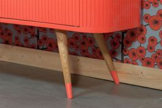 Details on Upcycling Oak Furniture from Portuguese Brand Matrioskas via design milk Upcycled Furniture, Furniture Decor, Painted Furniture, Furniture Design, Furniture Legs, Deco Design, Interior Design Inspiration, Interiores Design, Home Furnishings