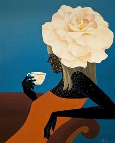 Svegliaaaa  il tempo per un  caffè e si parte!  #Buongiorno con Mou Lu   #DonneInArte  #DonneETempo  @alecoscino