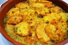 Patatas rebozadas, Que podría yo decir de este plato…, me lleva a la niñez, cuando se ponían en la mesa para mi ese día era fiesta, recuerdo a mi madre...