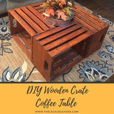 Home Decoration Styles DIY Wooden Crate Coffee Table - Inexpensive Living Room Furniture Ideas - Easy to Make Home Decor.Home Decoration Styles DIY Wooden Crate Coffee Table - Inexpensive Living Room Furniture Ideas - Easy to Make Home Decor Woodworking Outdoor Furniture, Crate Furniture, Furniture Ideas, Furniture Stores, Wooden Crate Coffee Table, Diy Wooden Crate, Wood Table, Inexpensive Home Decor, Diy Home Decor