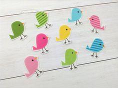 DIY No Sew Iron-on Applique - Spring Birdies (4) Unisex - Baby Shower Onesie Activity on Etsy, $3.95