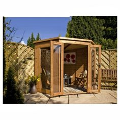 mercia 7x7 corner summerhouse with installation - Corner Garden Sheds 7x7