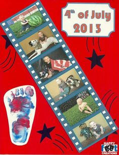 4th of July art project for kids or toddlers. Feet / hand art projects