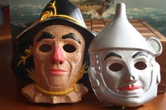 Vintage Wizard of Oz masks.