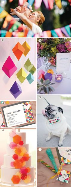 Geometric wedding inspiration board