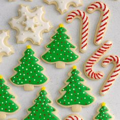 Decorated Christmas Cutout Cookies Rich, buttery sugar cookie cutouts like these never last long at a party. They're one of my favorite homemade Christmas cookies. I use seasonal cutters to celebrate the holidays tastefully. Christmas Cutout Cookie Recipe, Cute Christmas Cookies, Christmas Cookie Cutters, Xmas Cookies, Cut Out Cookies, Christmas Goodies, Christmas Treats, Christmas Baking, Homemade Christmas