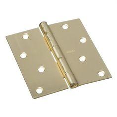Stanley-National Hardware 4-in Satin Brass Interior Concealed Door Hinge