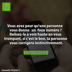 Saviez Vous Que? | Tous les jours, découvrez de nouvelles infos pour briller en société ! The More You Know, Good To Know, Did You Know, Funny Fun Facts, E Mc2, French Quotes, Things To Know, Quotations, Affirmations