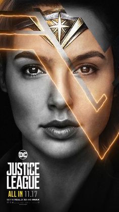 Justice League Movie Poster 2017 Wonder Woman Played by Gal Gadot Wonder Woman Art, Gal Gadot Wonder Woman, Wonder Women, Justice League 2017, Super Heroine, Motion Poster, Dc World, Univers Dc, Comic Kunst