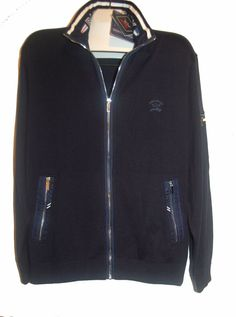Paul&Shark Yachting Cotton Men Italian Navy Watershed Sweater Jacket Sz XL $485 #PaulSharkYachting #FullZip