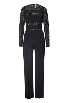 ELIE SAAB Lace Paneled Jumpsuit. #eliesaab #cloth #pants