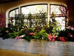 indoor garden party /// #indoor #garden #party #flowers #planter #event #greenery #wedding