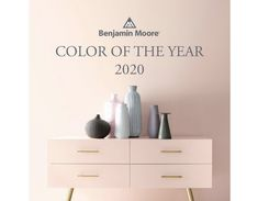 First Light: Benjamin Moore's color of the year — Martine Claessens Benjamin Moore Pink, Benjamin Moore Bathroom, White Paint Colors, Bedroom Paint Colors, Magnolia Wallpaper, Stripped Wallpaper, The Undertones, Blue And White Fabric, Light Works
