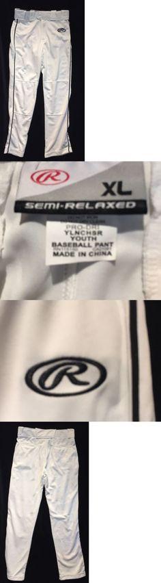Baseball Pants 181349: Rawlings Youth Premium Baseball Softball Semi-Relaxed Fit Piped Pants Xl Ylncsr -> BUY IT NOW ONLY: $35 on eBay!