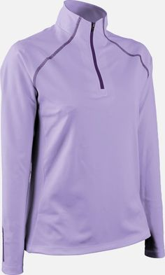 Lilac Sun Mountain Ladies Second Layer Golf Pullover available at Lori's Golf Shoppe