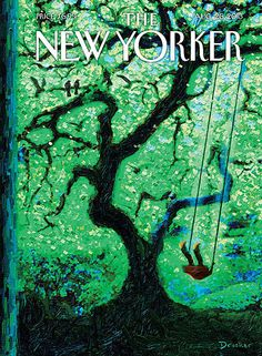 The Eternal Summer - The New Yorker Cover, August 2013 Poster Print by Eric Drooker at the Condé Nast Collection The New Yorker, New Yorker Covers, Art Prints For Sale, Art For Sale, Summer Poster, Magazine Art, Magazine Covers, Magazine Design, All Nature