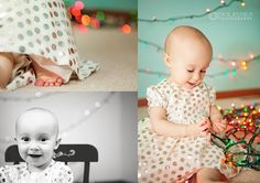 Christmas photo idea for children:) how adorable is she!