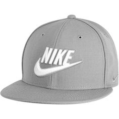 NIKE HBR The Nike True Snapback sport grey/white Kappen/Mützen ($28) ❤ liked on Polyvore featuring accessories, hats, white snapback hats, nike hat, grey snapback hats, sports cap and nike snapback