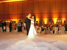 Dry ice for the couple's first dance
