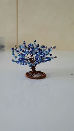 3D tree beads and wire