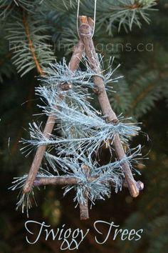 DIY Weihnachtsbaumanhänger oder Geschenkanhänger - Materialien findet man auch in der Natur
