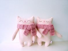 Plush Cat Stuffed Cat Toy Cat Doll Cat  by dancingintherains