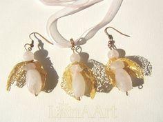 Golden Wings Loving Angels jewelry set by LanAArt