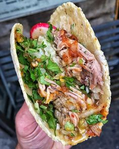 CARNITAS TACO from @taqueriadiana!  @taqueriadiana  East Village, NYC  @devourpower  TAG YOUR #TACO FRIENDS!