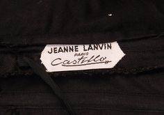 "Label ""Jeanne Lanvin Paris Castillo"""