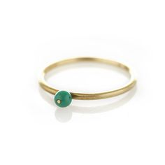Brass ring with bead Bangles, Bracelets, Jewlery, Jewelry Design, Brass, Turquoise, Rings, Silver, Favorite Things