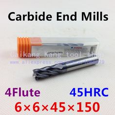 $15.00 (Buy here: https://alitems.com/g/1e8d114494ebda23ff8b16525dc3e8/?i=5&ulp=https%3A%2F%2Fwww.aliexpress.com%2Fitem%2FHead-6mm-CNC-mills-tungsten-steel-cutter-alloy-cutter-engraving-cutters-Cutting-Hardness-45HRC-4F6-6%2F2025224665.html ) New 4 Flute Head:6mm Tungsten steel cutter CNC milling Carbide End mills Highest cutting hardness: 45HRC 4F 6*6*45*150mm for just $15.00