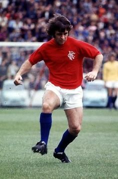 Tommy McLean of Rangers in Rangers Football, Rangers Fc, Football Boots, Football Images, Football Pictures, Retro Football, Glasgow, Science Nature, Champion
