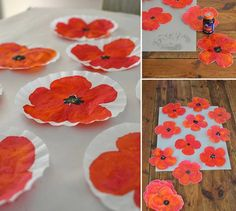 "Flors genials - ""Flores geniales"" http://smallforbig.com/2013/07/diy-poppy-art.html"