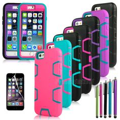 Shockproof Heavy Duty Rugged Impact Hybrid Case Cover For Apple iPhone 6 4.7'' #Pandamimi