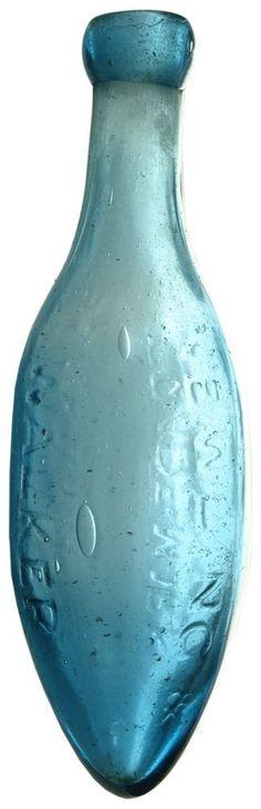Auction 26 Preview | 298 | Newling Walker Parramatta Blue Glass Torpedo Bottle