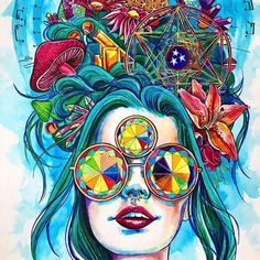 Cool trippy pictures that takes your mind on a LSD trip. Dope collection of weird trippy pictures to look at when your HIGH. When Drugs Meet Art. Psychedelic Art, Psychedelic Tattoos, Mundo Hippie, Trippy Pictures, Tachisme, Psy Art, Arte Pop, Dope Art, Visionary Art