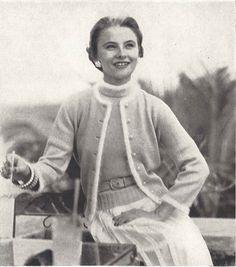 Angora Twinset • 1950s Knitting Twin Set Cardigan Sweater Top & Blouse • 50s Vintage Vogue Pattern • 1954 Retro Women's Knit Digital PDF by TheStarShop on Etsy