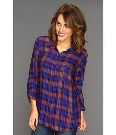 Splendid Charlee Plaid Button Down