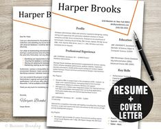 CV Template - Creative Resume Template Instant Download - Resume Cover Letter Template