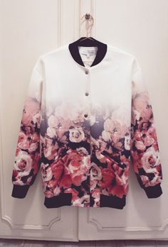 Ombre Floral Finders Keepers Bomber Jacket