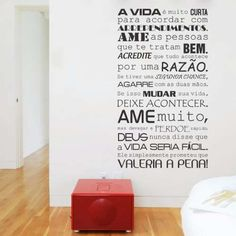 Adesivo Decorativo Frases Pensamentos 85 Cm X 150 Cm - R$ 59,99