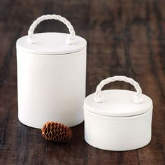 kitchen canisters from PigeonToeCeramics