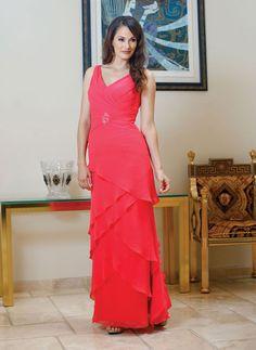 Fancy A-line natural waist chiffon mother dress of the bride