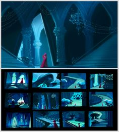 Frozen concept art by Victoria Ying - Yersq Sites Disney Concept Art, Disney Art, Pixar Concept Art, Environment Concept Art, Environment Design, Animation Background, Art Background, Storyboard Drawing, Bg Design