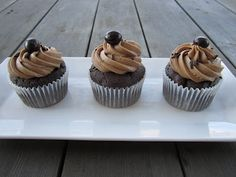 Java chip cupcakes with espresso cream frosting - how could you go wrong!