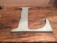 """ETSY - Rustic Letter """"L"""" Color: Rustic Country Gray $15"""