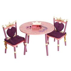 Levels of Discovery Princess Table and Chair Set, Multicolor