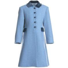 Oscar De La Renta | Coats vintage inspired | Pinterest | Red wool coat