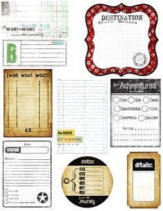 Printable -- Travel Journal Tags